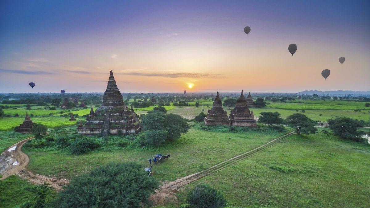 Sunrise at Bagan, Myanmar