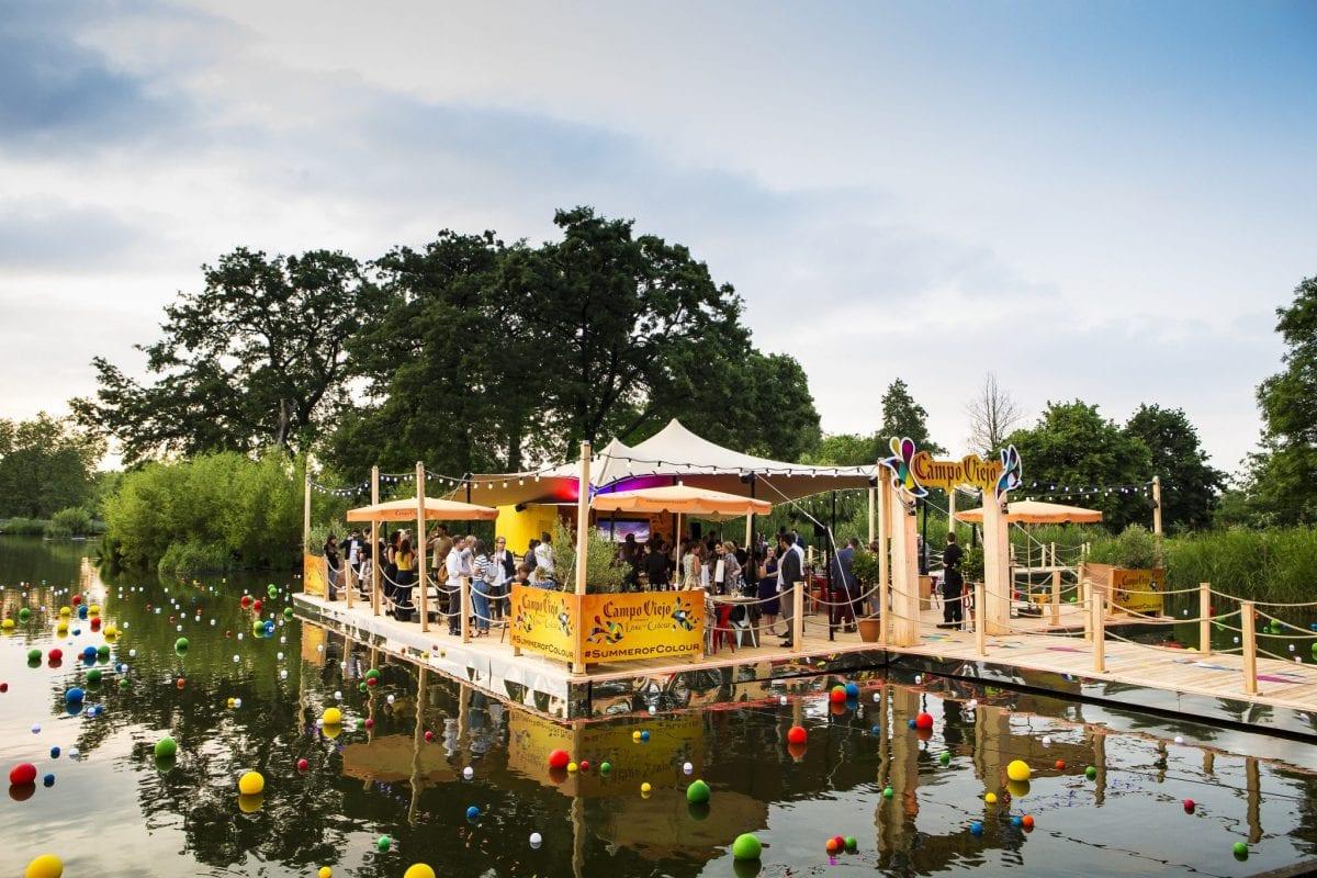 Campo Viejo Lake of Colour Media Preview Clapham Common London 8 June 2015.