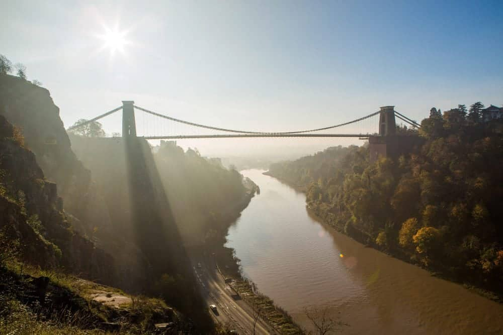 FILE PICTURE - Clifton Suspension Bridge in Bristol.  Vast vaults discovered under the Clifton Suspension Bridge have opened to the public for the first time.  The 12 vaulted chambers were found in 2002, nearly 160 years after the crossing was opened in Bristol.  It was assumed for decades that the massive two-storey abutments which support the bridge towers were solid stone or filled with stone.  Now, after drilling through 2m (6.5ft) stonework and installing a doorway, two chambers have been opened for tours.