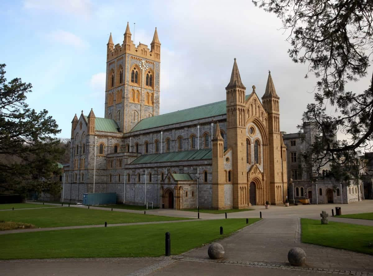 File photo of Buckfast Abbey in Devon. See SWNS story SWMONK; Monks who make a controversial wine linked to violent crime made nearly £9million last year. The Charity Commission, a government department that regulates charities, revealed that the Buckfast Abbey Trust's income was £8.8m in 2014-15 - and most of the cash came from wine sales. Monks at the abbey have been making a wine - known as 'buckie' - since the 1920s. But the caffeinated wine has been linked to antisocial behaviour and violence in Scotland - where over 6,500 crime reports were linked to the wine in the space of two years.