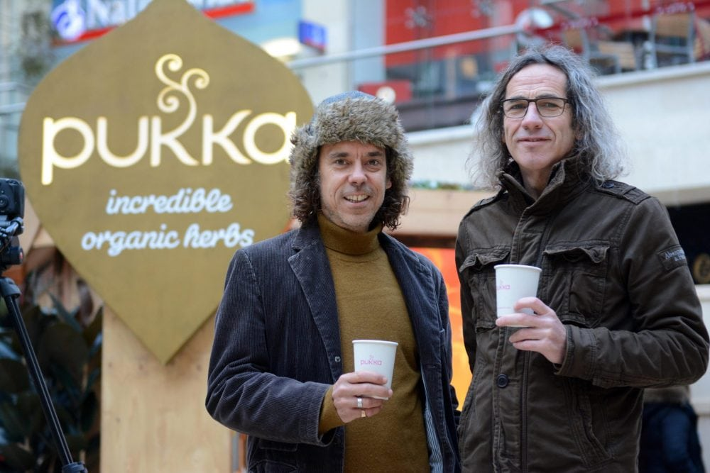 """FILE PICTURE - Pukka Herbs  founders, Sebastian Pole and Tim Westwell. The co-founder of the booming Pukka herbal teas brand has revealed how the company was founded - by a classified advert in a local magazine. See SWNS story SWPUKKA.  More than one million cups of Pukka Herbs tea are drunk every day in 40 counties, helping the company to a £28million annual turnover.  But now boss Tim Westwell, 55, has revealed the incredible story of how he met co-founder Sebastian Pole through a humble classified ad.  He decided to pack in his corporate life in the IT business and turn his attention to something that inspired him.  Battling depression and with chronic back pain, the then-40-year-old looked to nature to help him overcome his low mood and he soon decided working with herbal remedies would be the """"answers to his troubles"""".  He put a small ad in the Bristol lifestyle magazine Venue and offering his financial expertise in growing a sustainable business.  After two weeks he received only one response - from herbalist Sebastian.  The pair immediately hit it off and decided to launch business in herbalism, using Sebastian's knowledge of alternative therapies and Tim's business accumen.  Pukka Herbs was founded in 2001, mixing teas in Tim's kitchen while running the accounts from Sebastian's bedroom."""