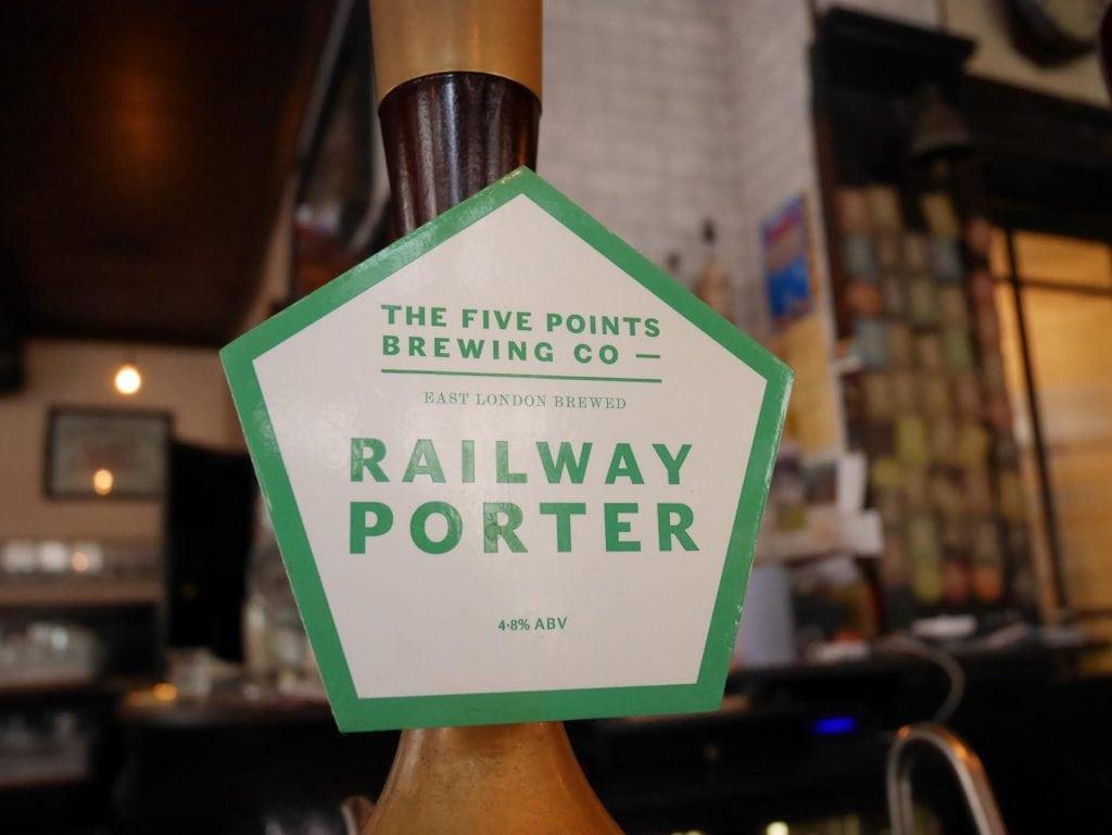 Five Points Railway Porter best pubs in East London