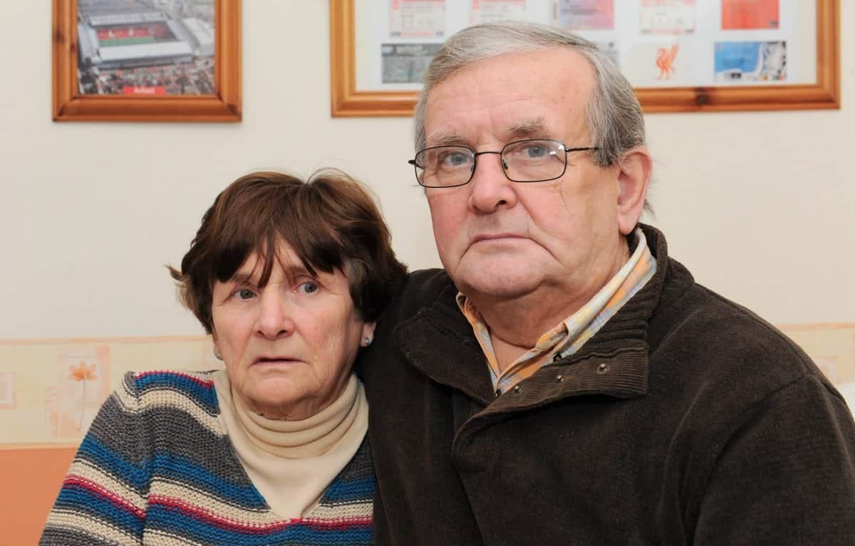 Norman and Pat Cook sat in their Stevens room who went missing in Malia, Crete, in 2005. See NTI story NTIMISSING; A skeleton found at the bottom of a well on a Greek island has been confirmed as a missing British tourist who disappeared almost 12 years ago. Tragic Steven Cook vanished while out with friends on the first night of his holiday in Malia on Crete in September 2005. The 20-year-old was last seen in a bar asking for directions to his hotel but walked off in the wrong direction at the end of a night out. Last week Greek police were called after a skeleton was discovered by workmen cleaning a well close to where he disappeared on the island. And yesterday (Fri), Cheshire Police confirmed DNA results prove the remains belong to Liverpool fan Steven. Arrangements are now being made to bring Steven back to the UK so an inquest can be held.