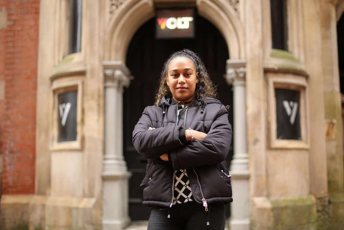 """Mahalia Hamid, 24, of Nottingham, outside Volt nightclub, Nottingham. February 16, 2017.  Police are investigating a Nottingham nightclub for an alleged hate crime incident after a group of predominantly black people were refused entry.  See NTI story NTIBLACK.  Mahalia Hamid said she and her friends were told they could not enter Volt as they """"did not fit the criteria"""".  She said she then stood by and watched as groups of white people walked into the club.  Ms Hamid said the entire group was refused entry, and they were all """"dressed to the nines"""".  There was no mention of their clothes being a problem on the night, she added, and other customers were allowed in despite wearing T-shirts, caps and trainers.  Nottinghamshire Police said in a comment: """"We received a report of a hate incident alleged to have happened at a premises in Broadway, Nottingham, on Saturday 28 January 2017. Our inquiries are ongoing."""""""