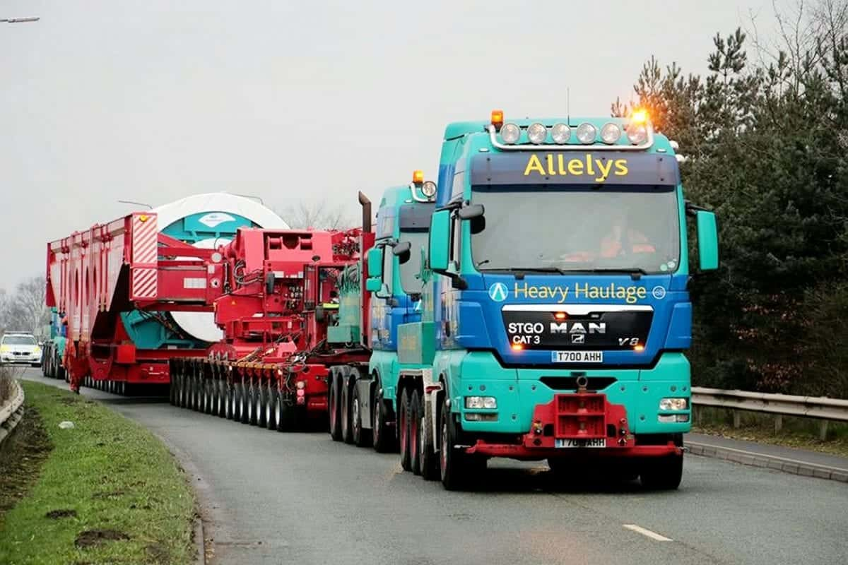 A trailer which weighed a whopping 560 tonnes took 14 hours to painstakingly travel from north Nottinghamshire to Goole - just over 35 miles to north.  Last Saturday (March 11) the abnormal load took the trip under police escort from Worksop, setting off at around 10pm.  The six metre wide and 82 metre long vehicle transporting a huge reel of steel cable could only move at a maximum of 13 mph, said East Midlands Operational Support Service (EMOpSS) - meaning the trip, which normally takes around 45 minutes, took 14 hours to reach the East Yorkshire port.  From there it will continue on its journey to Africa.