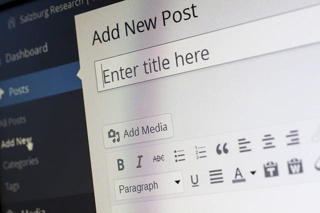 Content Management System Cms Wordpress Blog Post