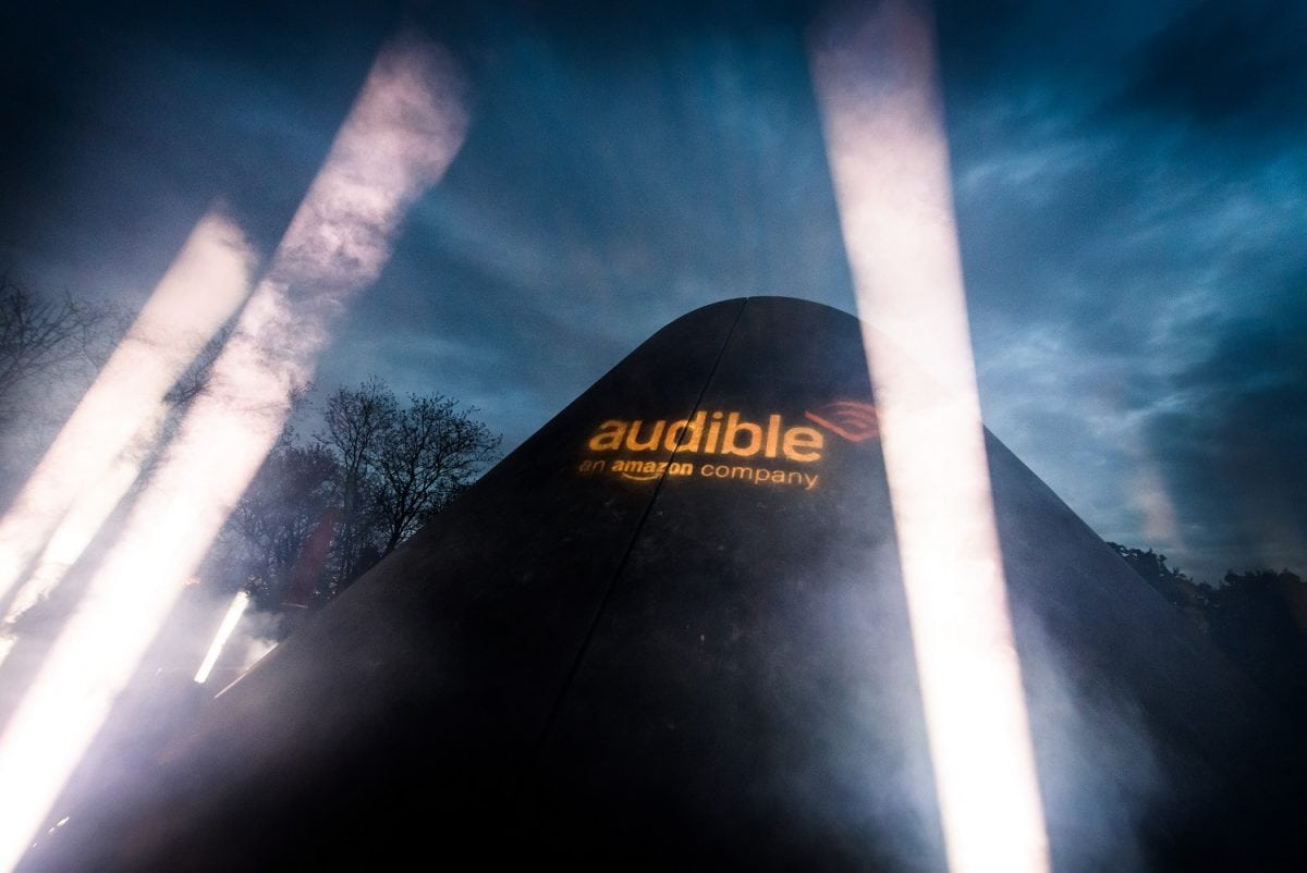 Visitors to the Greenwich Observatory Planetarium look up in awe during out-of this- world audio drama space beaming, to mark the launch of Alien: River of Pain – an Audible audio drama exclusive