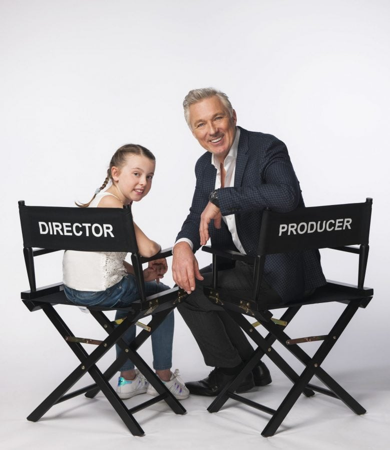 """Picture shows: Beth Ward in studio in London with Martin Kemp. Schoolgirl and budding movie-maker Beth Ward is making her cinema debut – after holiday chiefs brought in producer and actor Martin Kemp to transform her family holiday video into a professional short film. Beth, 10, from Stockton-On-Tees sent her video to travel company First Choice with a letter which said """"I really want to be a film maker, so my mam helped me make a small movie on my laptop to share with everyone. I hope you enjoy watching it as much as I enjoyed making it."""" They did enjoy it – so much so that they called in ex-EastEnders star and producer Martin to talk her through the process of film-making. Now the edited version of her 'video diary' of her family's trip to Mexico is to be screened at VUE throughout the UK - https://youtu.be/gvDm1uczXi8 Beth's original YouTube film to holiday company First Choice - https://www.youtube.com/watch?v=BJ6YPNPUuWs (Beths_holiday  Jo/Beth Wardy) More words and pictures available through Ben Griffiths / ben.griffiths@exposure.net  07540 712236"""