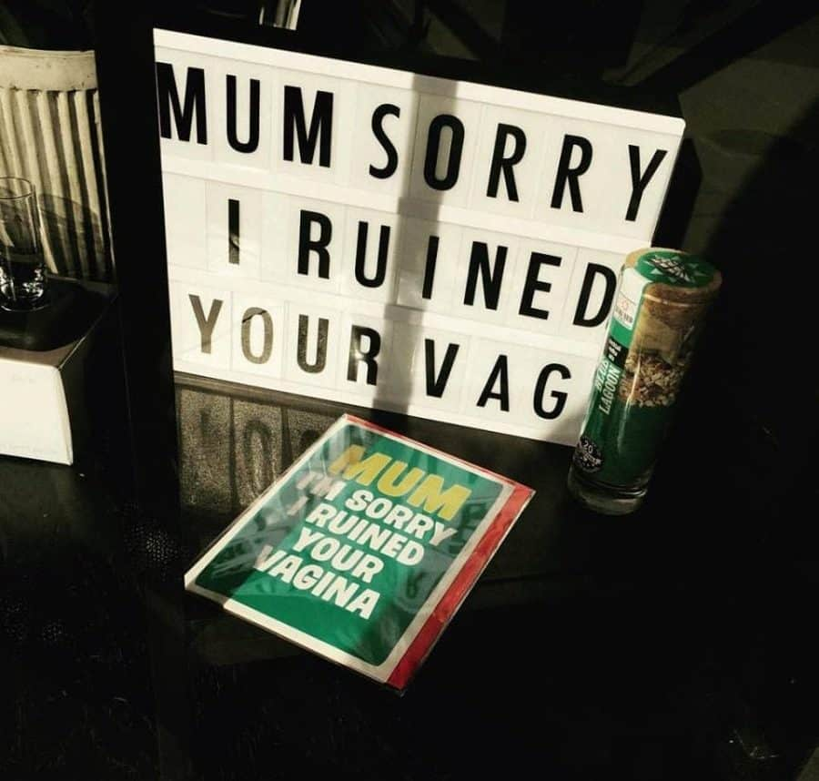 A shop owner has blasted local 'yummy mummies' after they complained about a Mother's Day card in the window bearing the word vagina. See Natinoal story NNVAGINA Kirsty Mizon-Taylor displayed a sign and card which read 'Mum, sorry I ruined your vagina' in the window of her posh boutique Taylor Jayne during the run-up to Mothering Sunday. But angry local mums in Reigate, Surrey, confronted the shop owner, with one even writing a letter of complaint to a business guild.