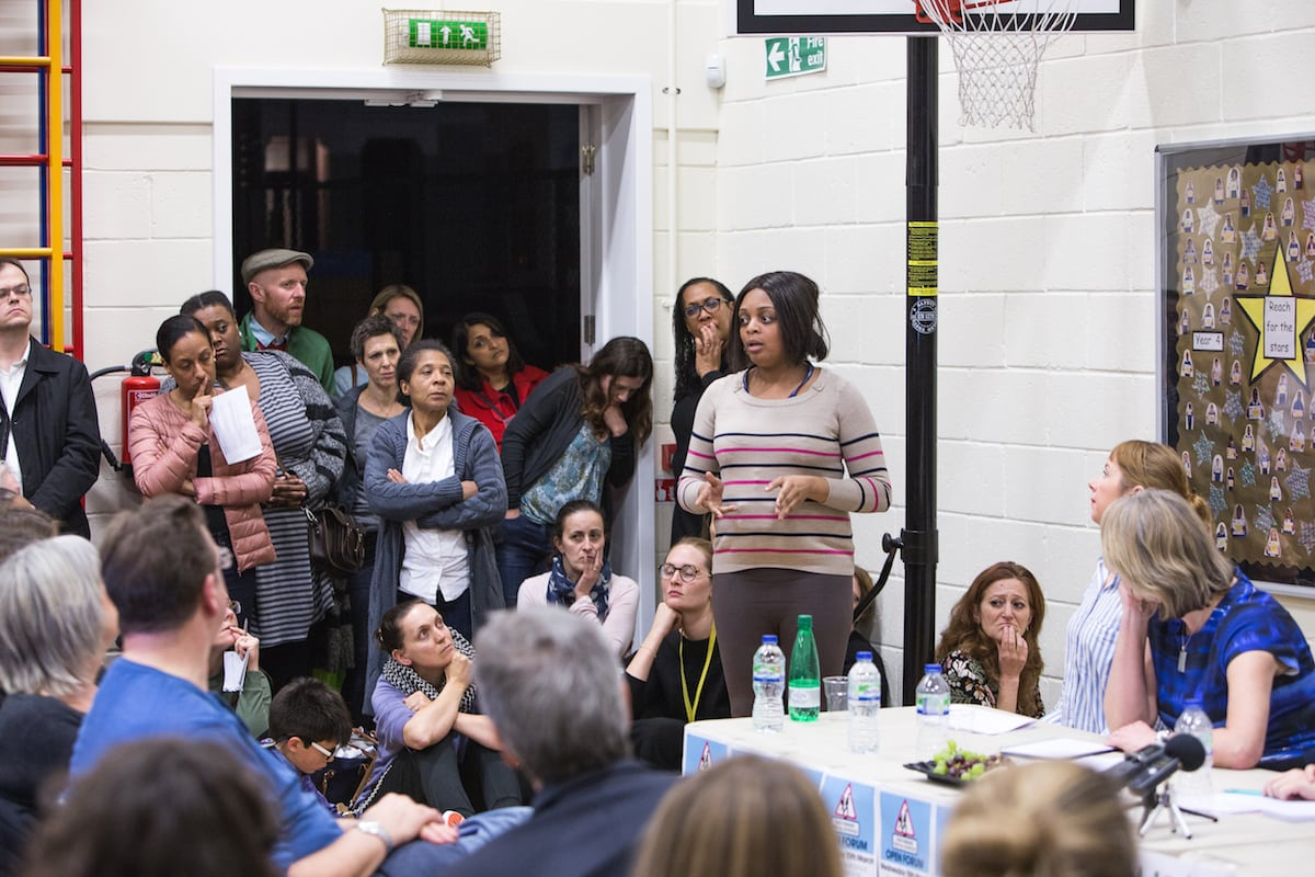 A public meeting last night (15/3/17) at Sunnyhill Primary School in Streatham of the Fair Funding for all Schools Lambeth campaign. Speakers included Ellie Brown, Lambeth parent and co-founder of the Fair Funding for all Schools Lambeth campaign, Fionna Martin, Lambeth parent and co-founder of the Fair Funding for all Schools Lambeth campaign, Lambeth MP Helen Hayes and Lib Peck, leader of Lambeth Council.