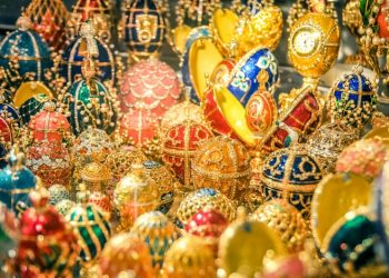 Faberge eggs russian in St Petersburg