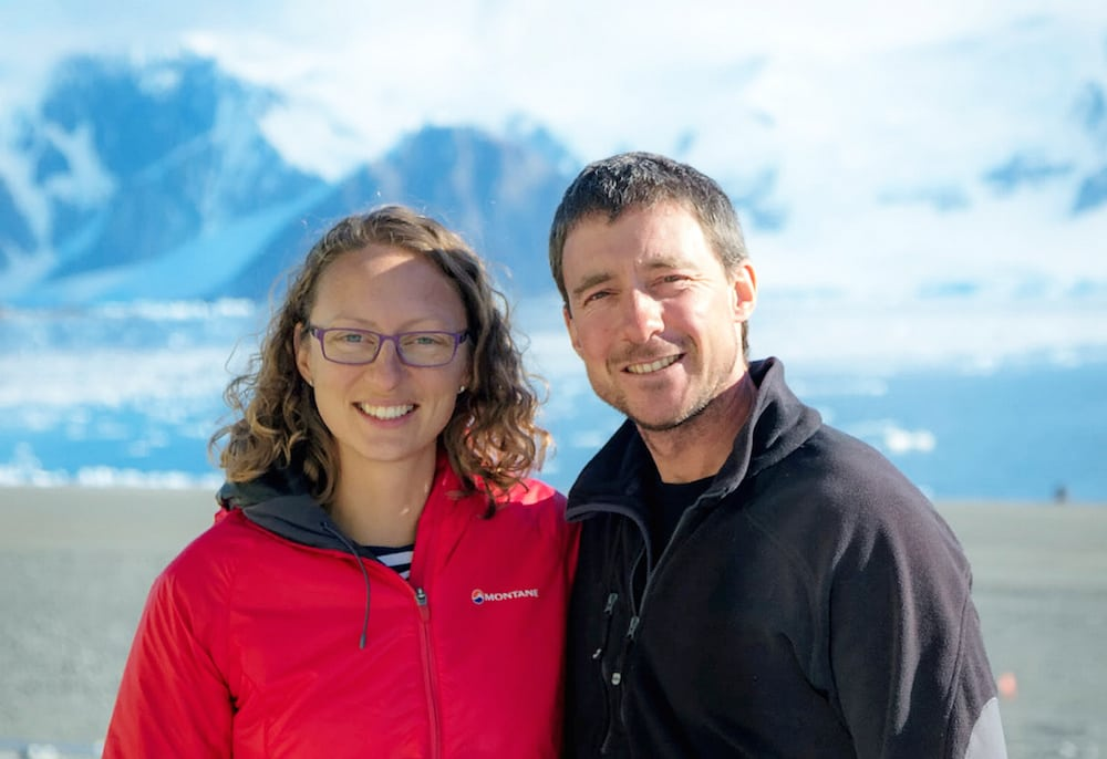 Julie Baum and Tom Sylvester.  A British couple have got married in one of the most remote places on Earth in the first wedding in the British Antarctic Territory. See MASONS story MNPOLAR.  Polar field guides Julie Baum and Tom Sylvester tied the knot in sub-zero temperatures surrounded by the continent's beautiful snowy mountains.  They shared their special day with 18 colleagues living and working at the British Antarctic Survey's (BAS) largest research station.  It was the first official wedding on the territory in Adelaide Island with magistrate and Rothera Station Leader Paul Samways performing the ceremony over the weekend.