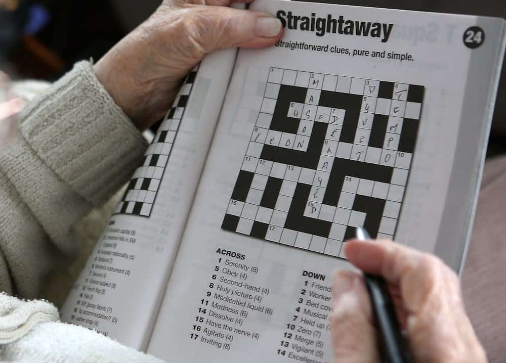 Word puzzles such as a daily crossword can give pensioners some of the the brain functions of people ten years younger, a new study has revealed. See National News story NNPUZZLE; The puzzles improve memory, attention and reasoning and regular problem solving, leads to a sharp brain in later life. Puzzling could also help ward off cognitive decline and it has been proven that keeping an active mind reduces a decline in thinking skills. But experts say more studies need to be done to link crosswords to neurodegenerative diseases.