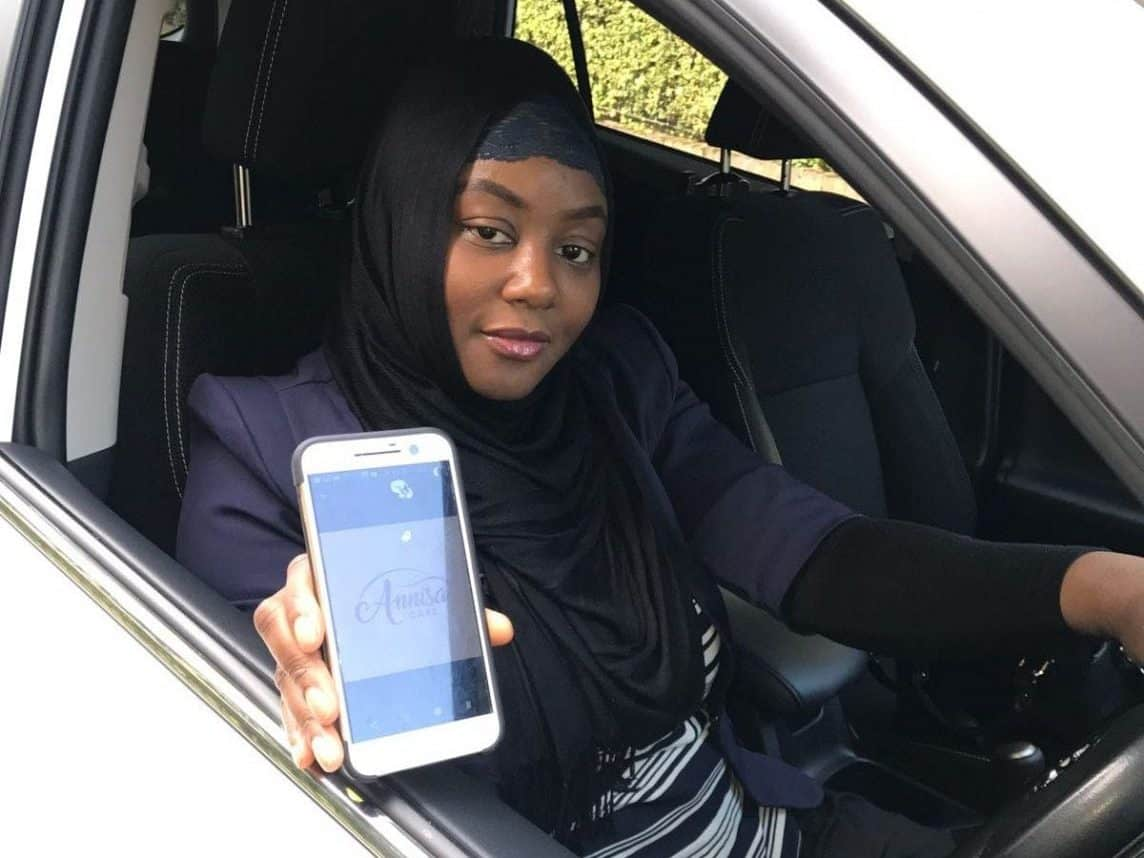 Sade Agboola who has launched a new taxi company that caters mostly for women - with only female drivers.  See NATIONAL story NNTAXI.  Sade Agboola set up the firm in a bid to make women feel safer will getting a lift in a taxi late a night or on the school run.  The only passengers that the all-female team of drivers at Annisa Cars will accept are women or children.  The 35-year-old feels that as Uber's licence has not been renewed by Transport for London (TfL), there could be a gap in the market for a taxi company which makes the safety of female passengers a priority.