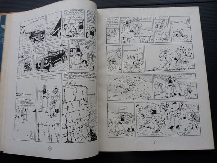 A rare limited edition Tintin comic is set to become the most expensive in Europe when it goes under the hammer for up to £100,000. See SWNS story SWTINTIN; The 1943 edition of Les Aventres De Tintin 'L'ile Noire' is one of three known copies left in the world. But this edition is considered the rarest of the three because it includes handwritten notes and cut-out panels by author Hergé. The notes ask his assistants to redraw certain panels, highlighting how much of a perfectionist the Belgian cartoonist was.