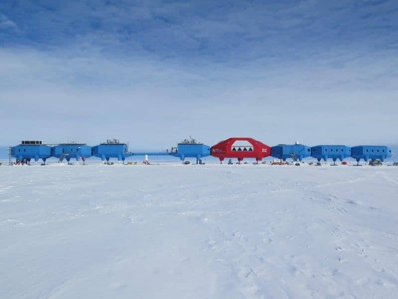 The British Antarctic Survey's (BAS) Halley VI Research Station, Antarctica. See Masons copy MNICE: Scientists will close an Antarctic research centre next year over fears the ice beneath it will CRACK. The British Antarctic Survey's (BAS) Halley VI Research Station is situated on a floating 150m thick ice shelf which has split twice in the last 12 months. The crack is caused by a movement of a chasm in the Brunt Ice Shelf, which had previously been dormant for around 35 years, but is now extending eastwards. Despite the highly sophisticated network of ice sensors and satellite imagery, it is impossible for glaciologists to predict how far and how quickly the ice may break further.