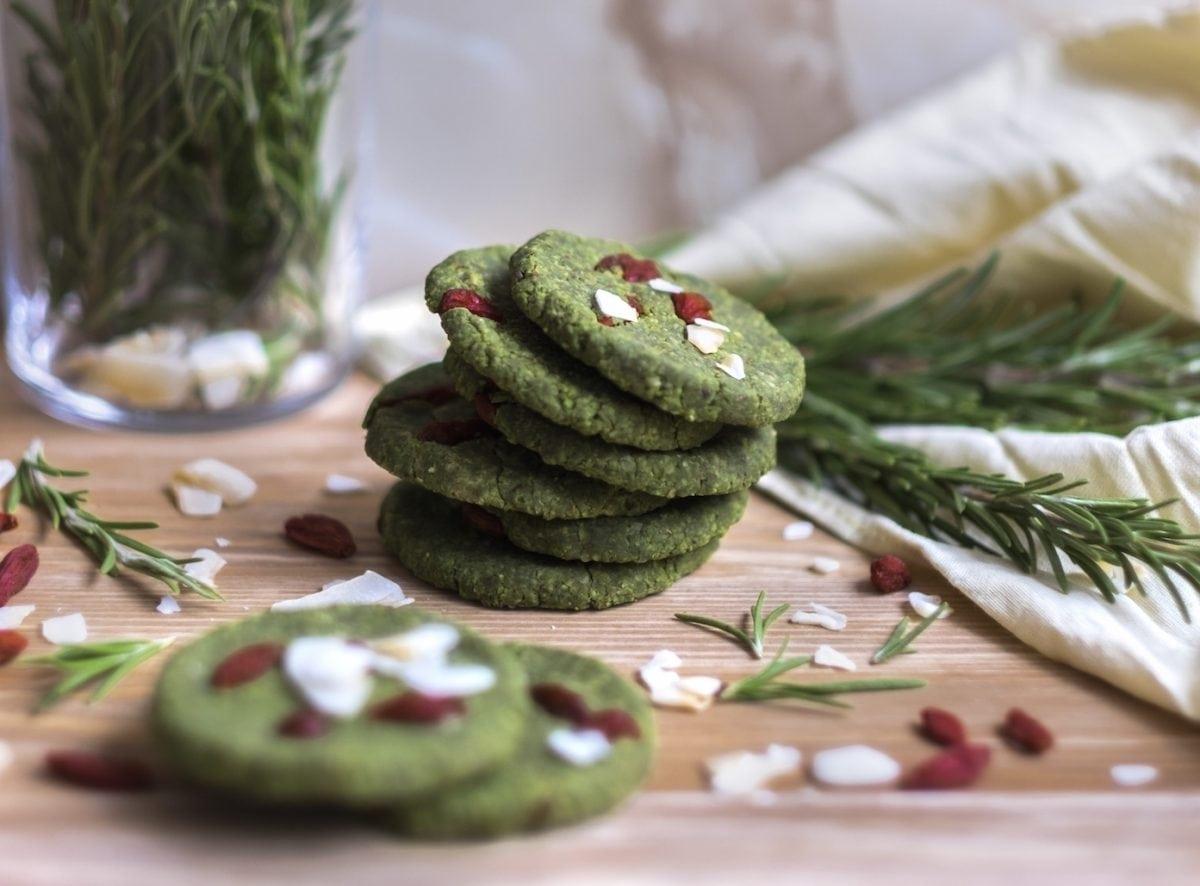 Almond and Matcha Cookies