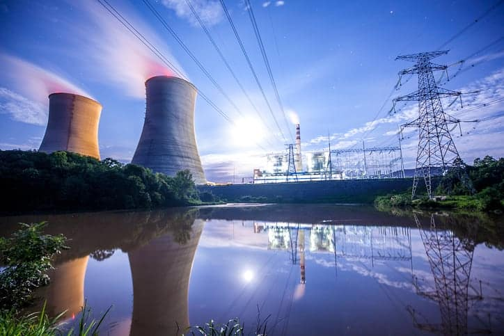 Power Plant in night