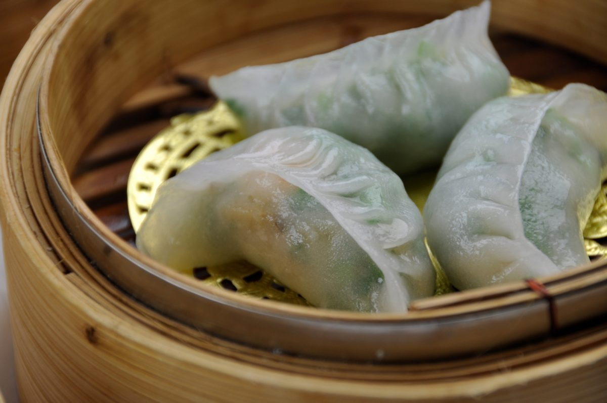Royal China chicken and chive dumplings