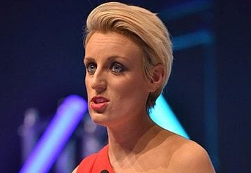 19.11.15 - Birmingham..Skills Show host Steph McGovern speaking at the Welcome Dinner of the Skills Show 2015, held at the NEC, Birmingham..Photo: Professional Images/@ProfImages