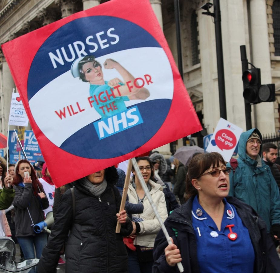 NHS nurses took to the streets to fight for the NHS