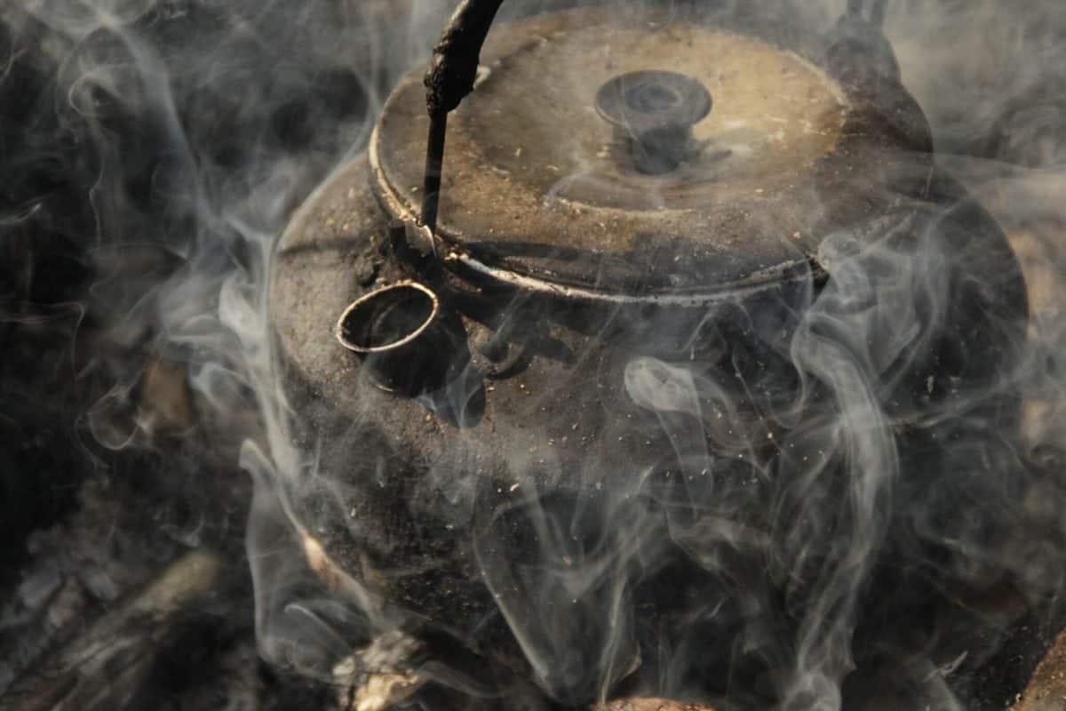 steaming kettle Photo: Lemmelkaffe