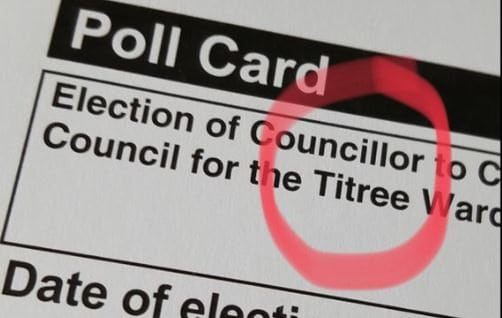 """The polling card for Tiptree misspelled as Titree. See Masons copy MNSPELL: The 'p' in the Essex county of Tiptree has been tragically replaced with a 't' on polling cards distributed ahead of the district council elections, now spelling 'Titree.' Tiptree is famed for its iconic Wilkin jam will be holding and election for a new council on May 3, for which polling cards are being distributed between today and April 3. The Tiptree parish council took to social media to slam the Tiptree borough council, and said on Twitter: """"This is completely shambolic."""""""