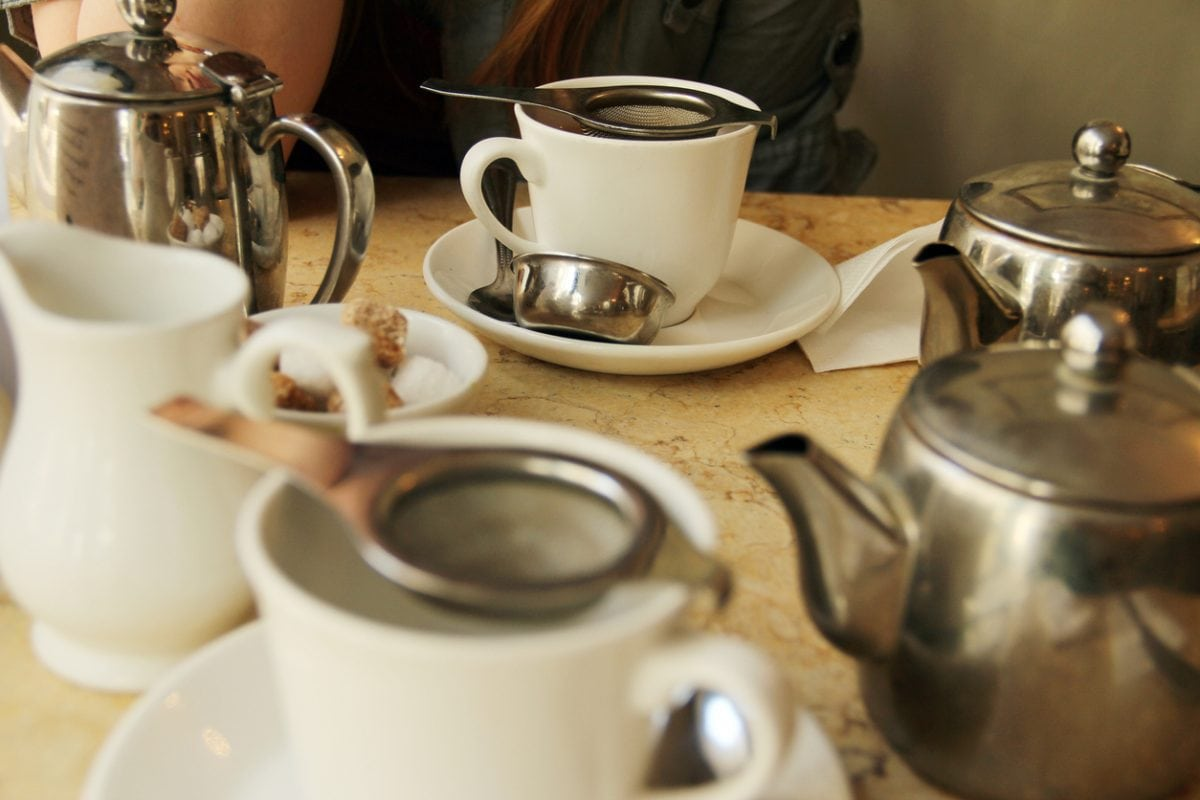 The proper way of drinking tea