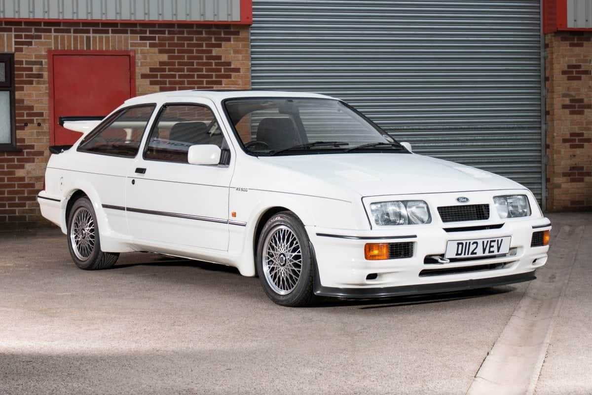 """A 30-year-old car described as """"the holy grail of Fast Fords"""" is expected to sell for a staggering £120,000. The Ford Sierra RS500 Cosworth is regarded as one of the most iconic cars of the 1980s."""