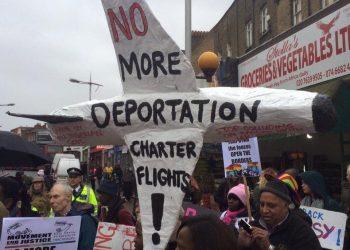 Windrush anti deportation demonstration