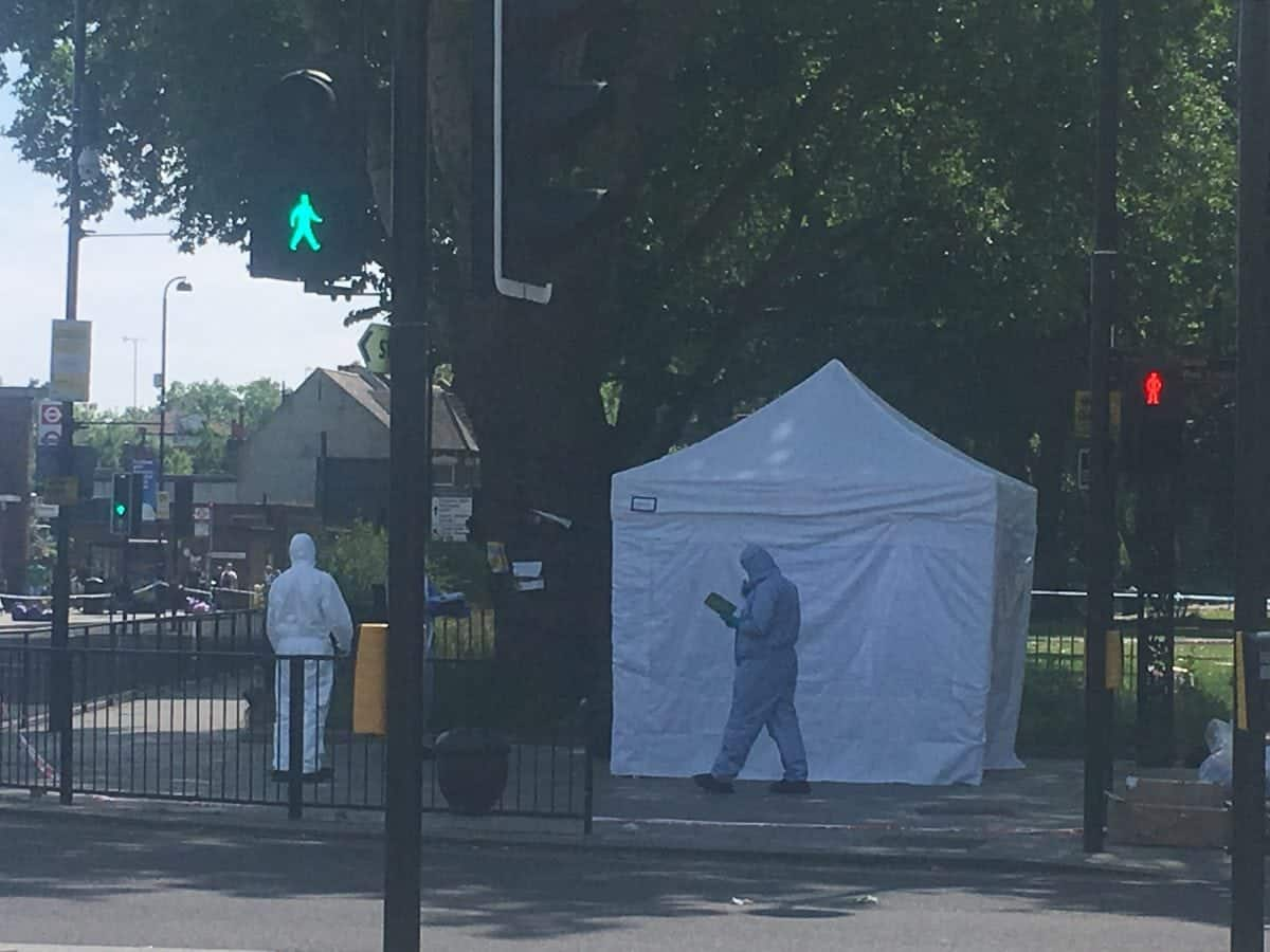 A murder probe has named the capital's 78th suspected murder victim this year as EdmondJonuzi. The 35-year-old Albanian was knifed to death in a public area in north London on Saturday night over what may have been a drug debt. He collapsed and died near Turnpike Lane tube station after being stabbed in a nearby park at around 9.30pm.