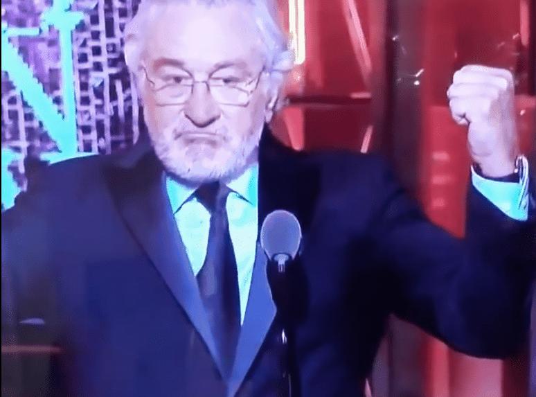 Robert de Niro says fuck Trump