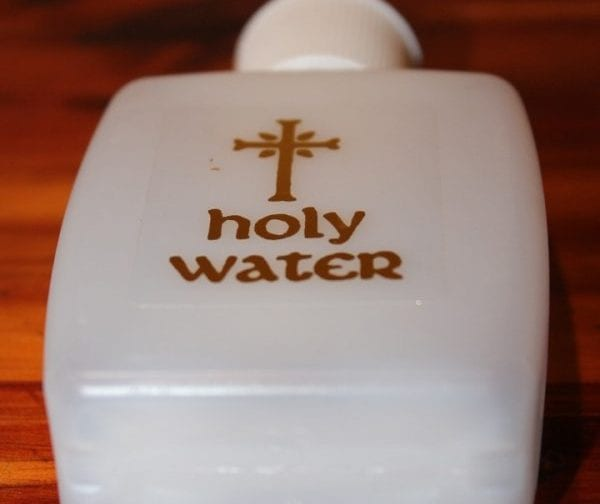 holy water exorcism tool