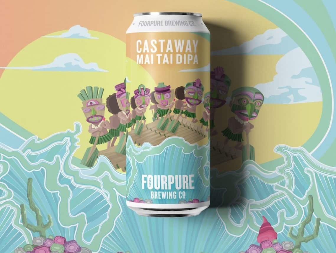 Fourpure Castaway Mai Tai DIPA