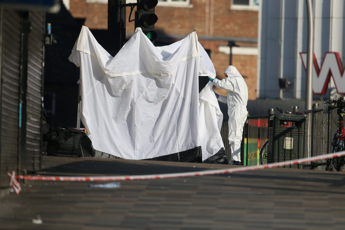 Scene of stabbing attack in Ilford - Credit:SWNS