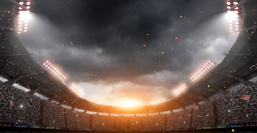 The imaginary stadium is modelled and rendered.