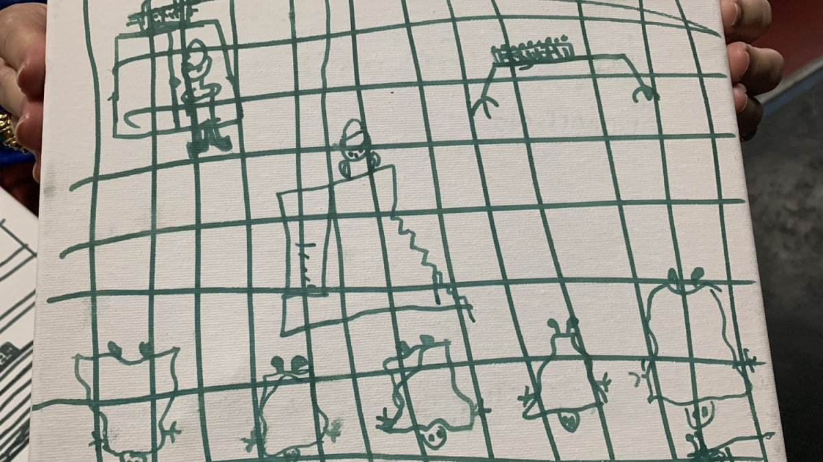 The drawings depict the cages where the children were kept. (American Academy of Pediatrics)