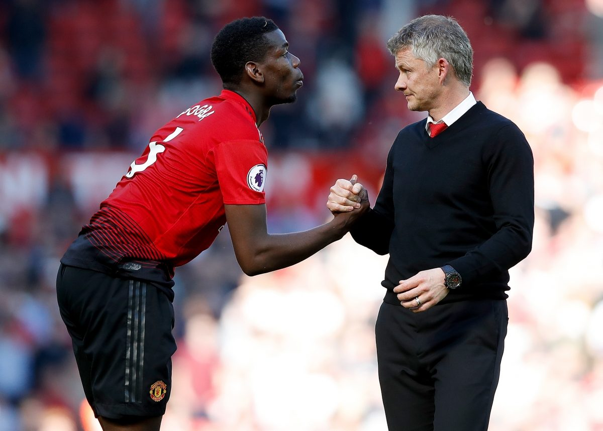 File photo dated 12-05-2019 of Manchester United manager Ole Gunnar Solskjaer (right) with Paul Pogba