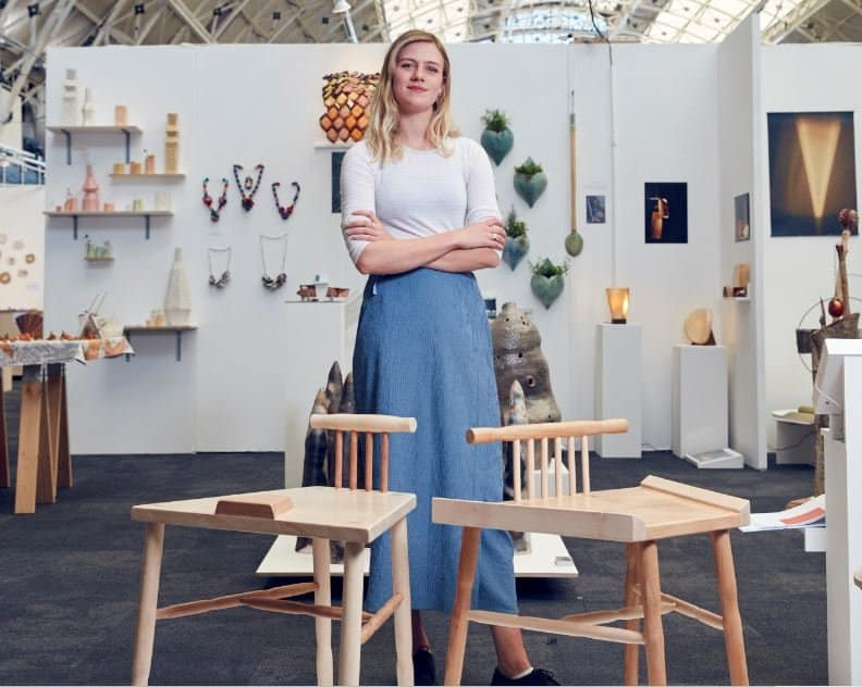 Laila Laurel, 23, won a major award after she created the piece of furniture to stop men from widening their legs and encroaching on other people's personal space.