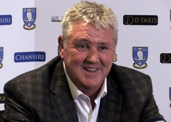 Screengrab taken from PA Video of New Sheffield Wednesday manager Steve Bruce during a press conference at Hillsborough Stadium, Sheffield.