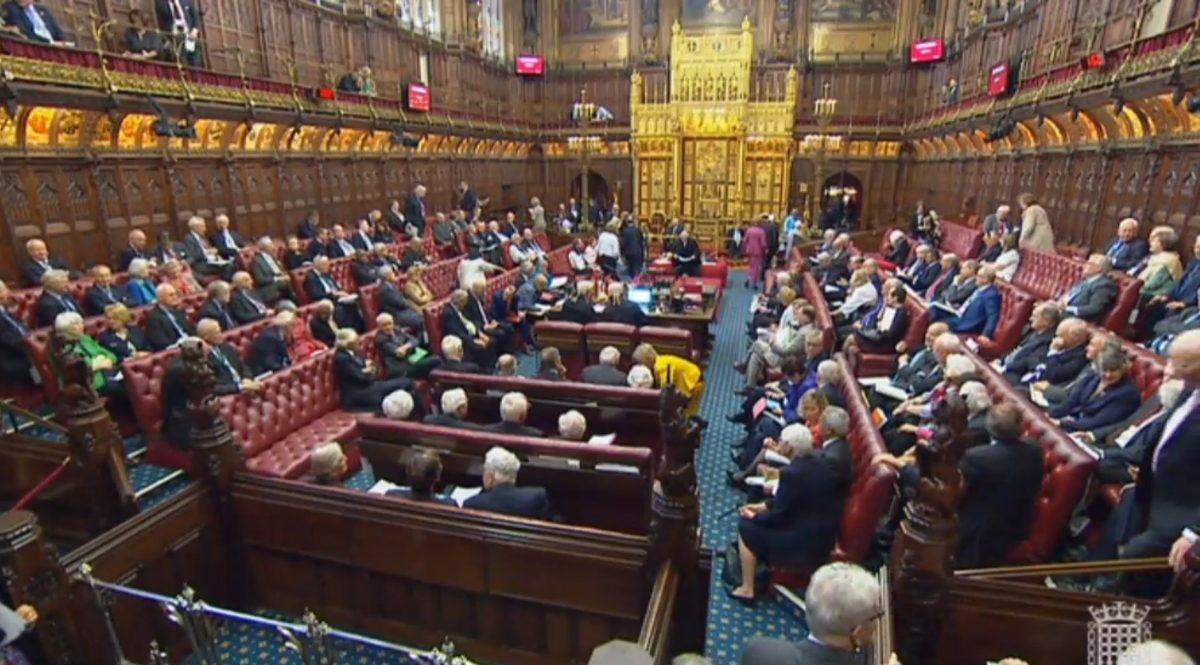 Peers in the House of Lords, credit;PA