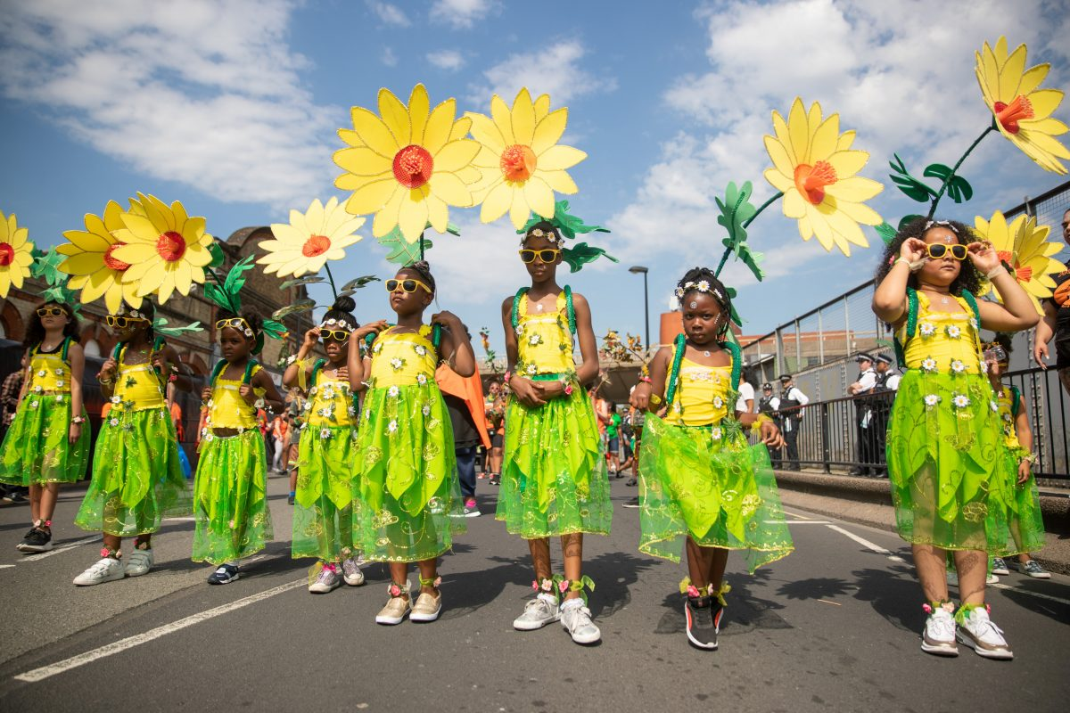 children at Notting Hill Carnival 2019 (SWNS)