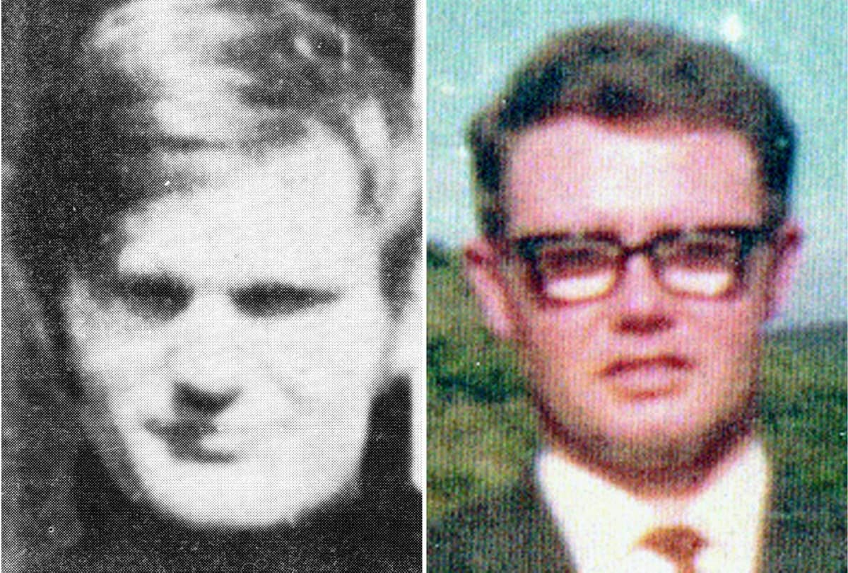 Bloody Sunday Trust undated handout photos of James Wray (left) and William McKinney who died on Bloody Sunday. Northern Ireland's Director of Public Prosecutions has announced that a solider will face prosecution for their murder and the attempted murder of four other people.