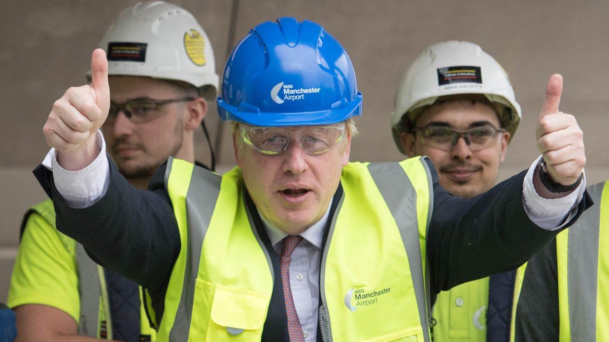 Boris Johnson hardhat