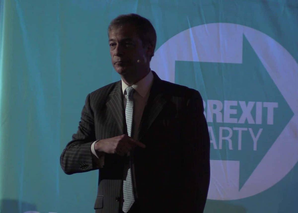 Nigel Farage Brexit Party leader