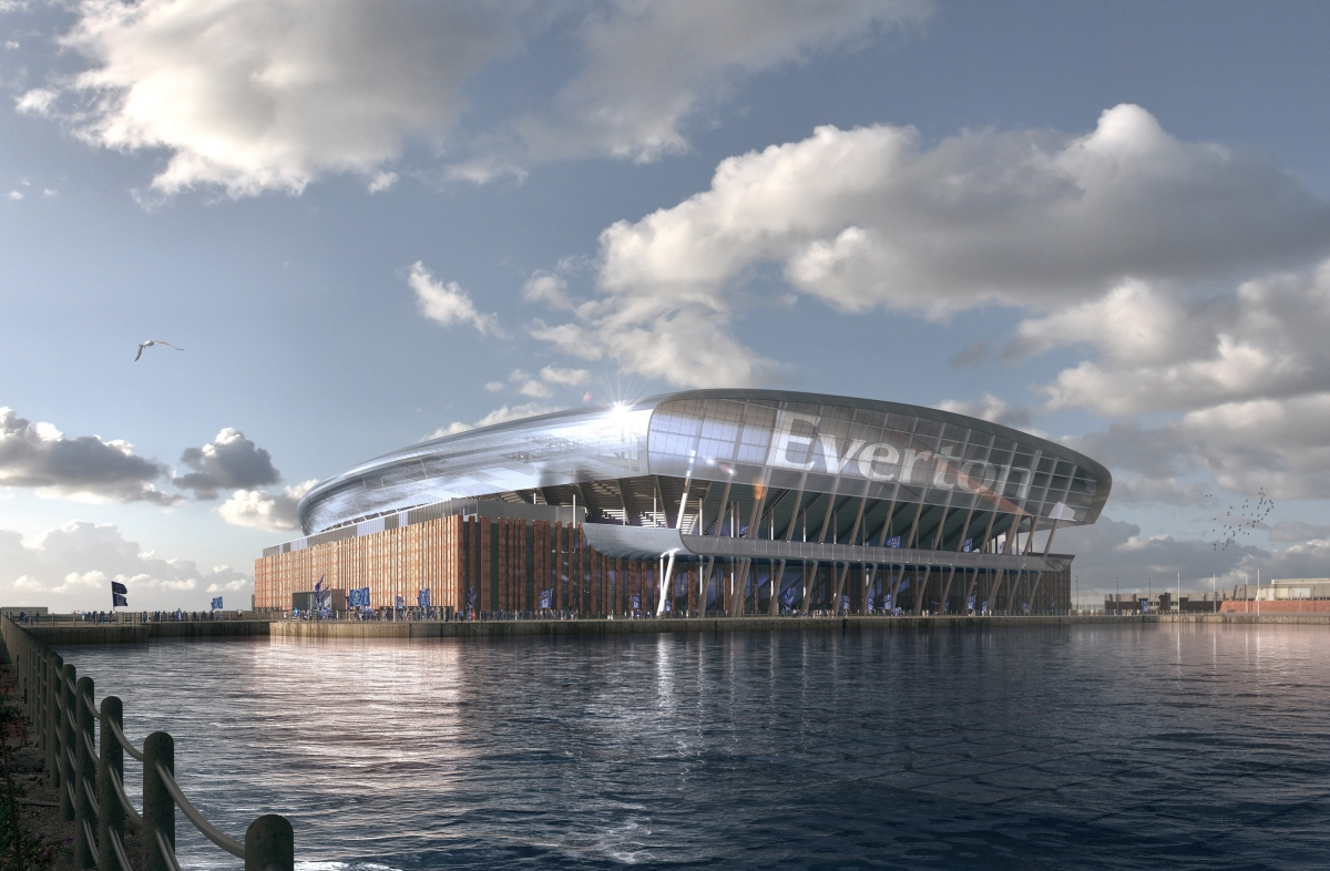 A proposed design for Everton's new waterfront stadium (Everton FC/PA)