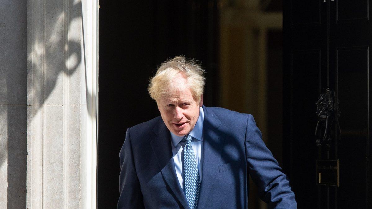 Boris Johnson exits Number 10 (PA)