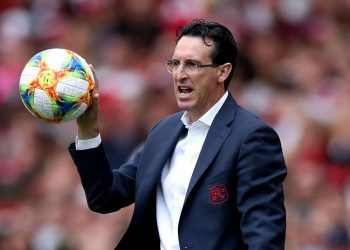 Arsenal's manager Unai Emery during the Emirates Cup match at the Emirates Stadium, London.