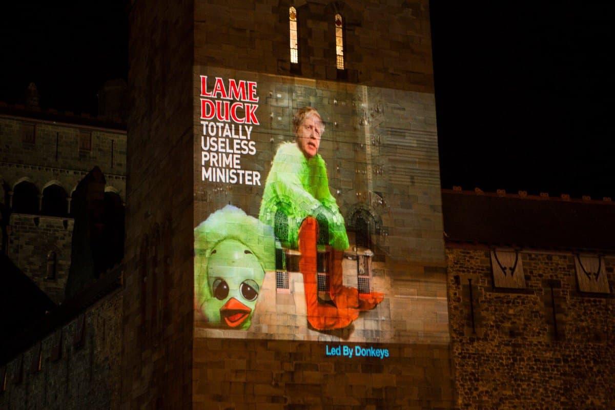 'Lame duck' Boris Johnson (Led By Donkeys)