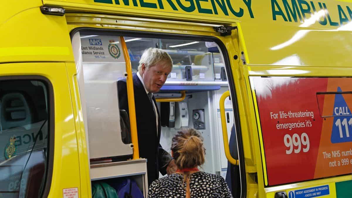 Boris Johnson hospital ambulance